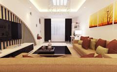 宽敞明亮的客厅装修效果图